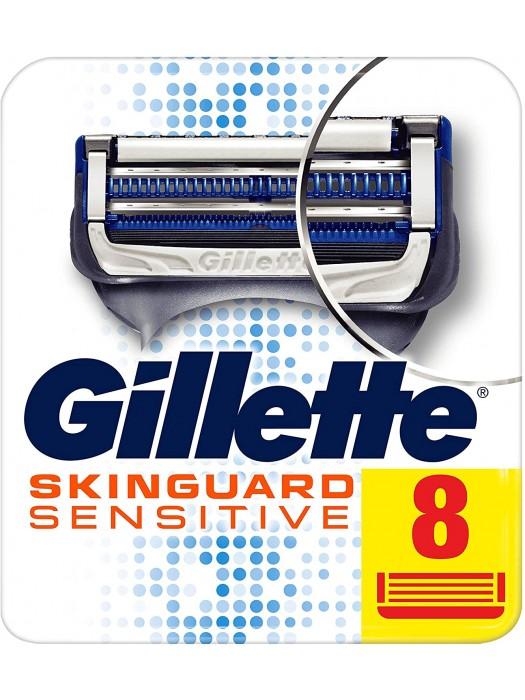 Gillette Skinguard Sensitive skutimosi peiliukai, 8 vnt.